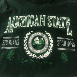 Vtg Michigan State University Spartans Tee Single